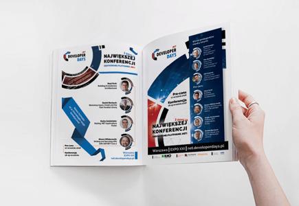 Projekt graficzny katalogów reklamowych na event