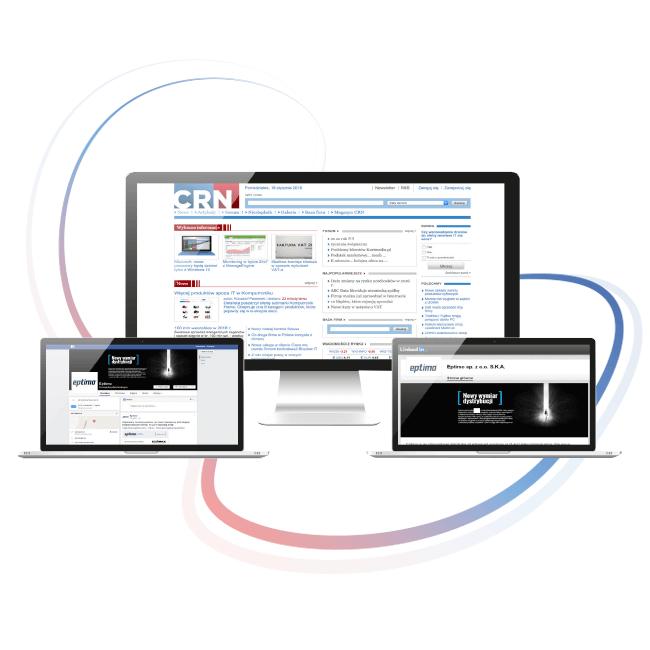 Ekrany komputerów z projektami graficznymi działań marketingowych