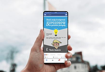 Smartfon z przykładem projektu graficznego