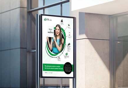 Projekt graficzny banera reklamowego